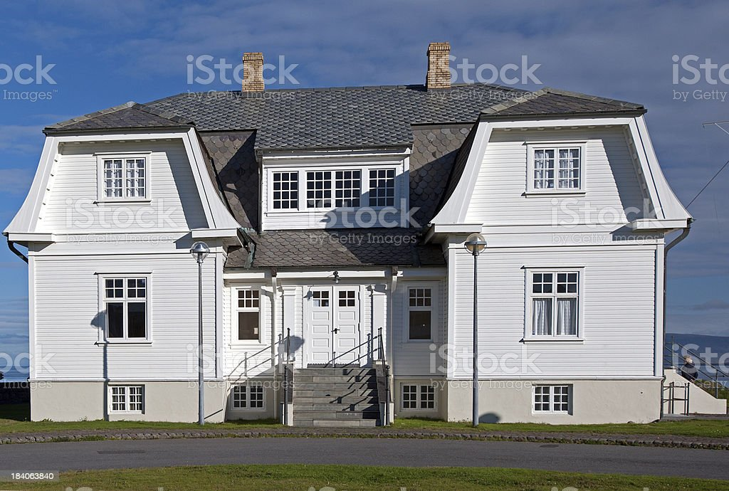 Island - Höfdi Haus in Reykjavik stock photo