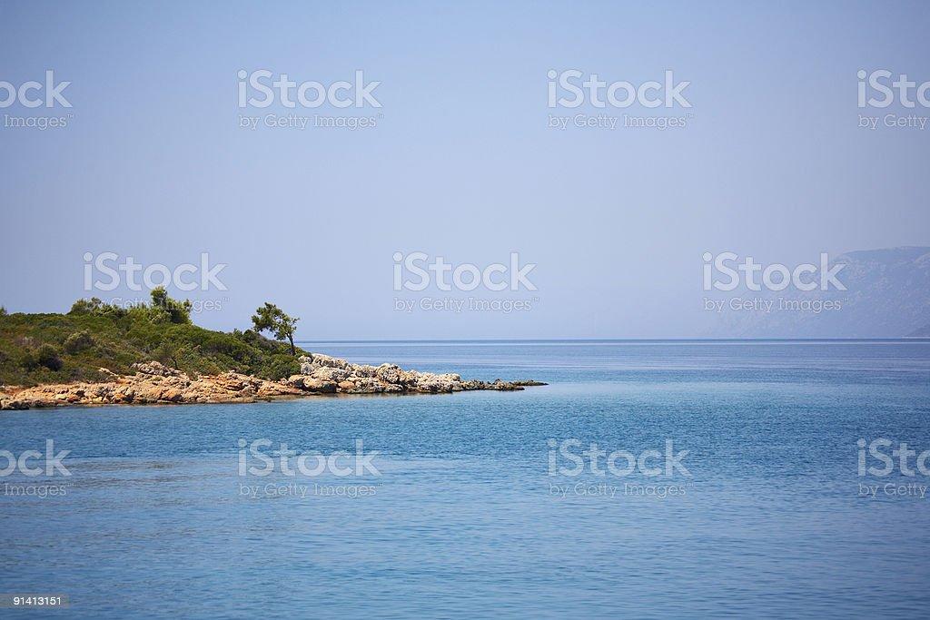 Island in Aegean Sea stock photo
