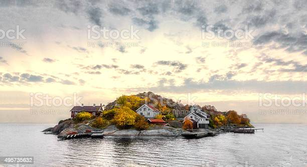 Photo of Island in autumn colors