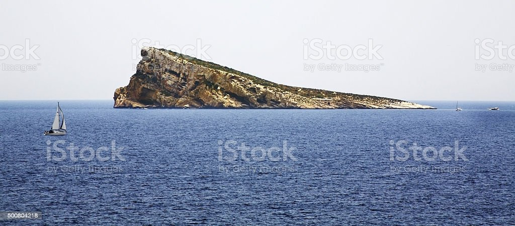 Island in Benidorm. Spain stock photo