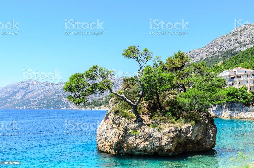 Island in Brela. royalty-free stock photo