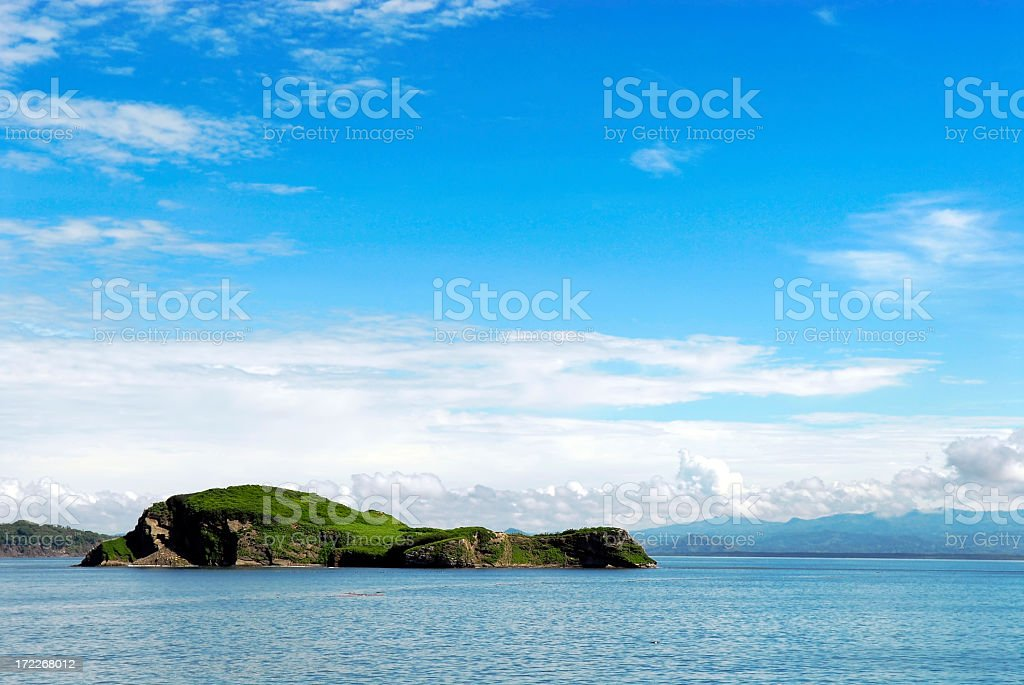 Island in Gulfo de Nicoya stock photo