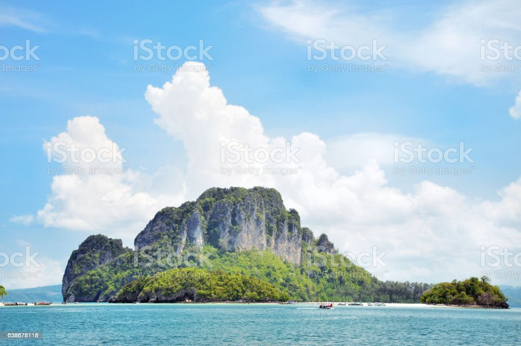 Island in Krabi Thailand stock photo