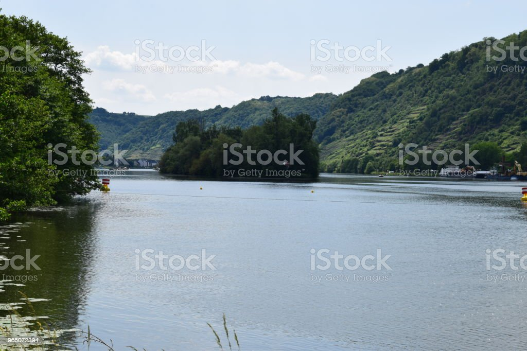 island in Mosel royalty-free stock photo