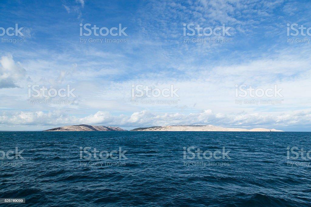 Island in the Adriatic sea stock photo