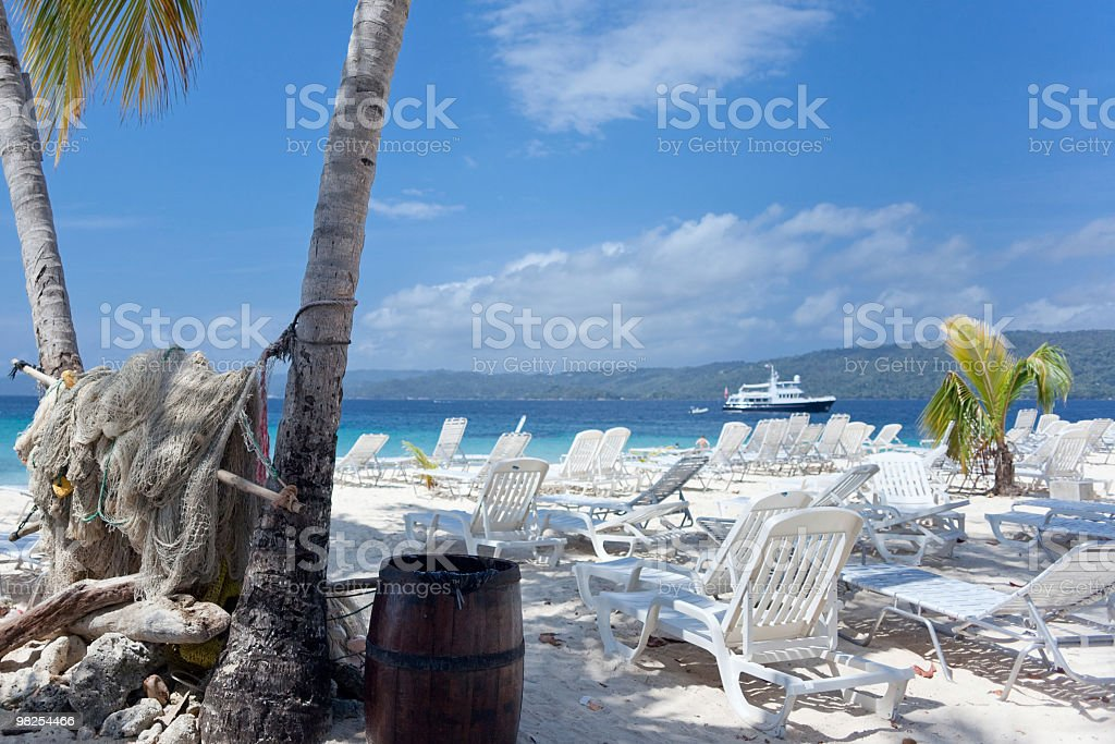 Island in the Caribbean Sea royalty-free stock photo