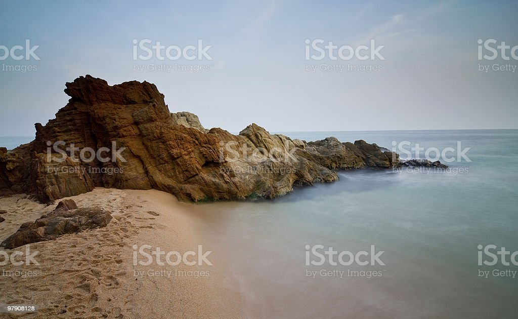 Island in the sand royalty-free stock photo