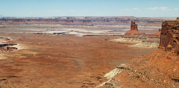 Island in the Sky viewpoint Canyonlands near Moab USA stock photo