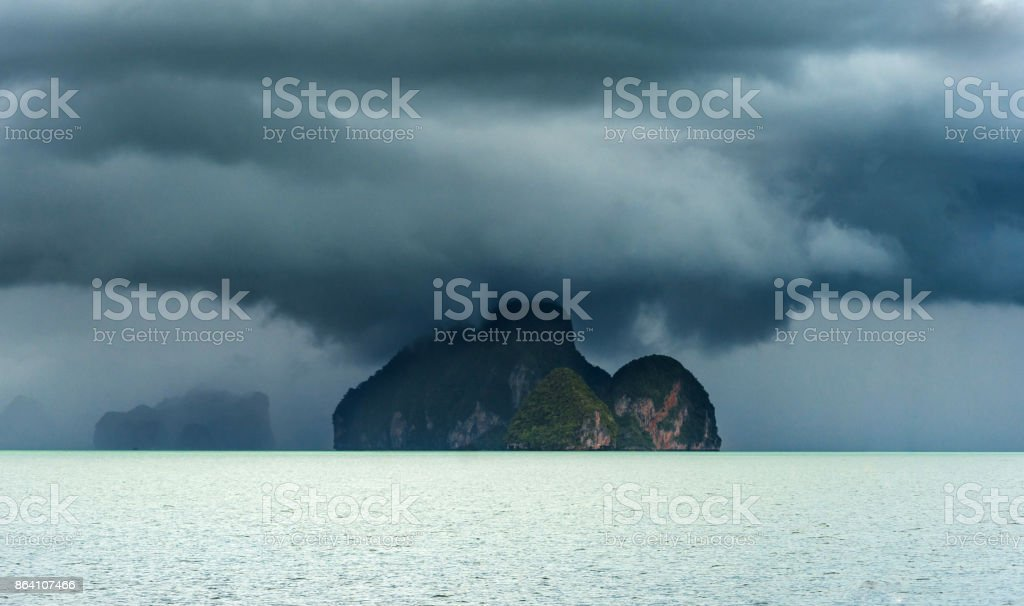 Island in the storm royalty-free stock photo