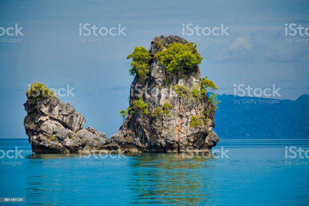 island in the sun stock photo