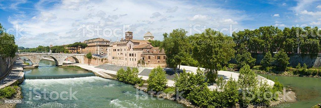 Island in the Tiber, Rome stock photo