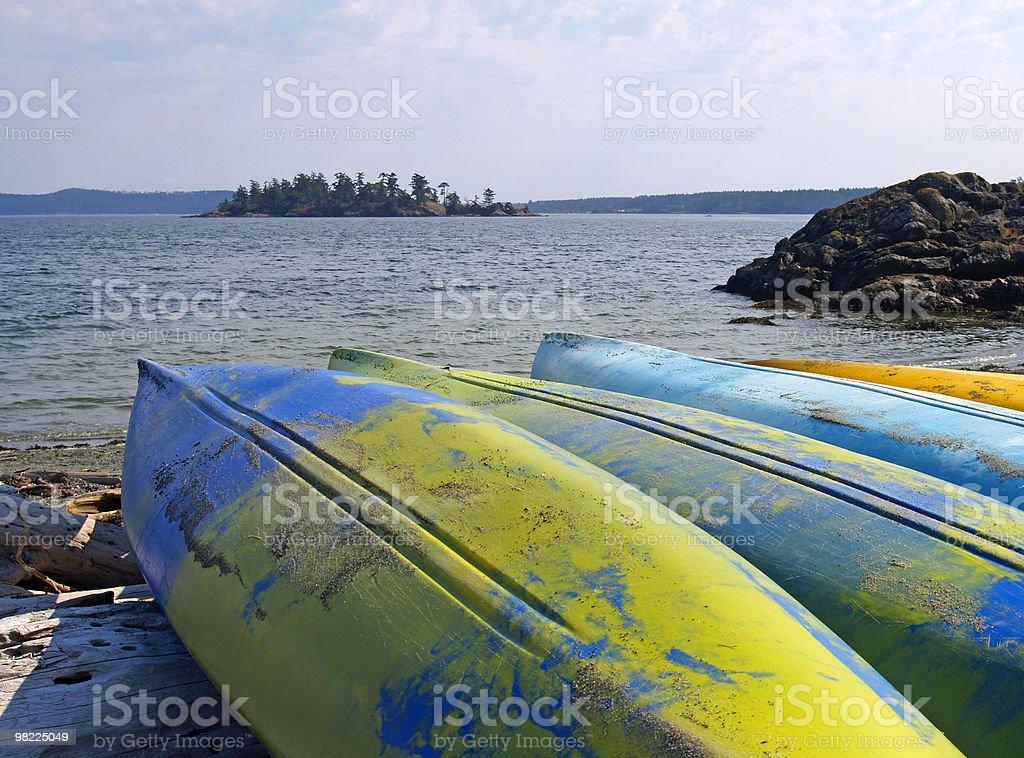 Island Kayaks royalty-free stock photo