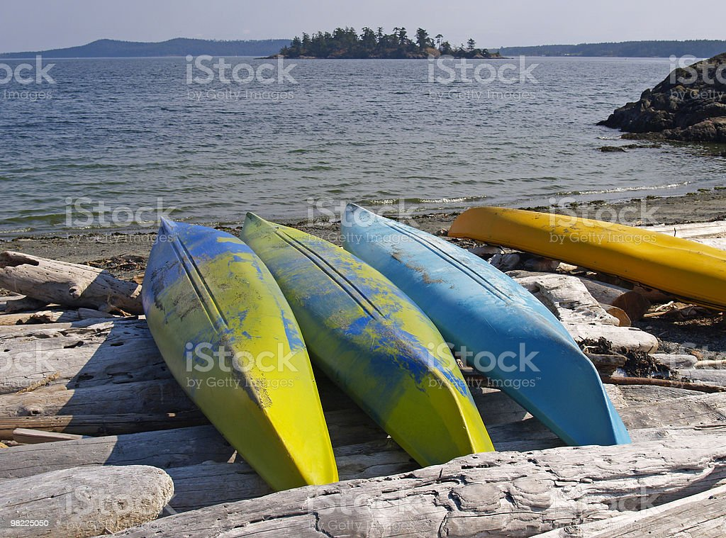 Isola kayak foto stock royalty-free