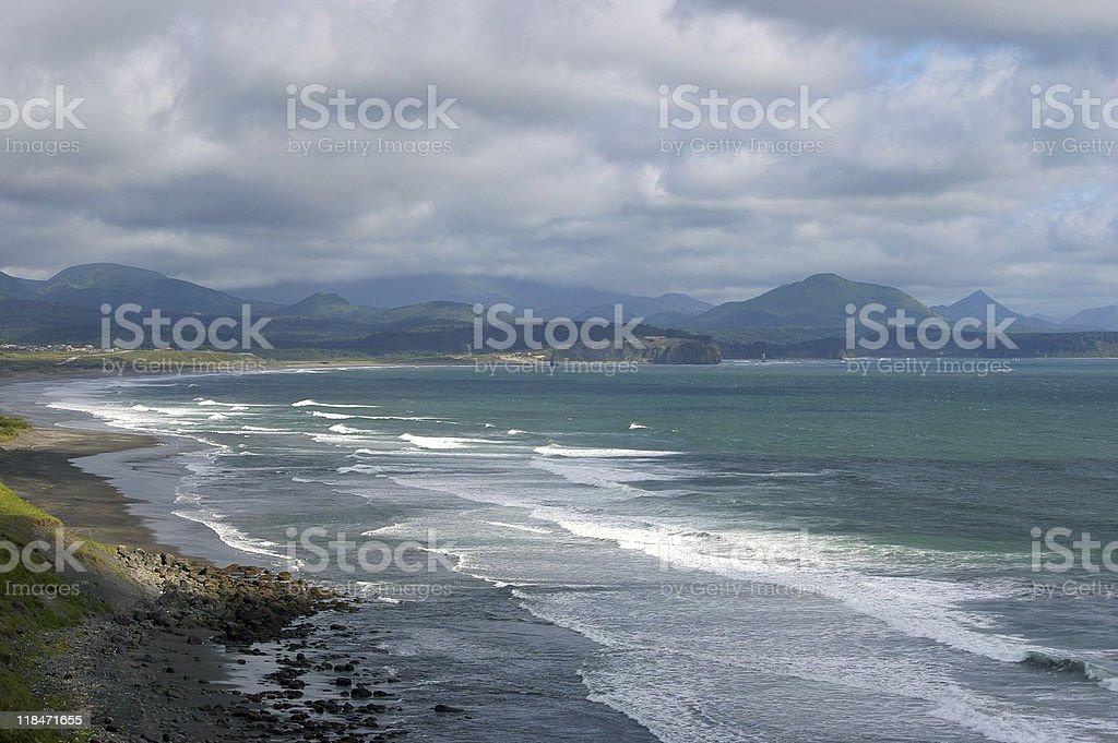 island Kunashir stock photo