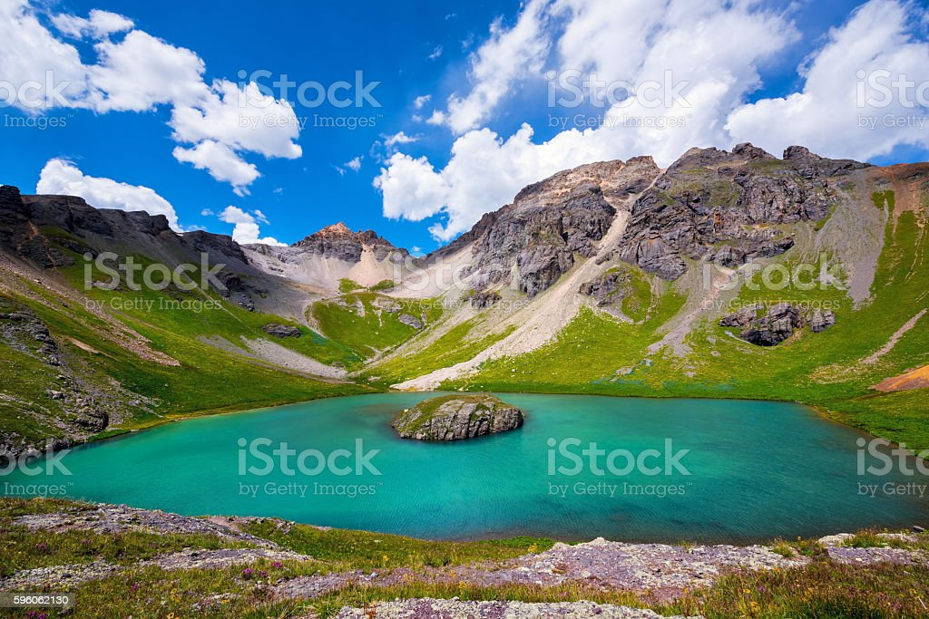 Island lake, Colorado stock photo
