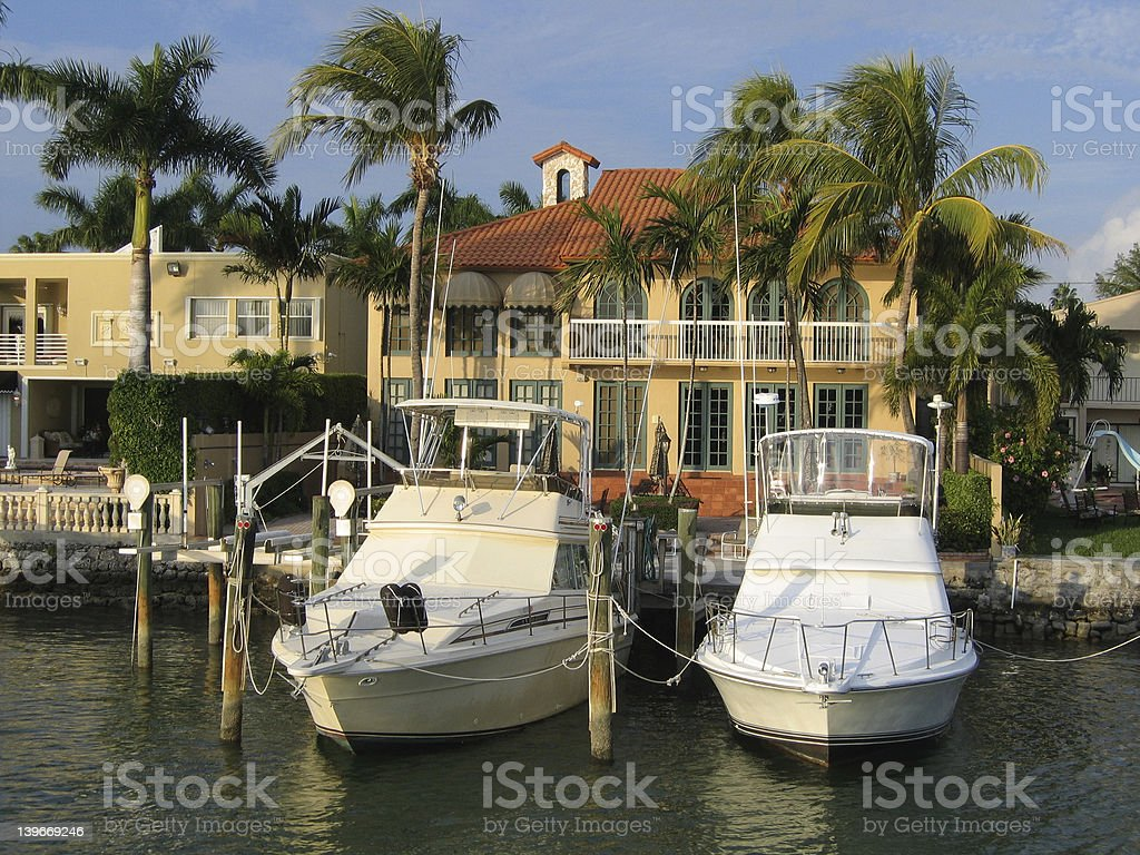 Island Living Miami Florida stock photo