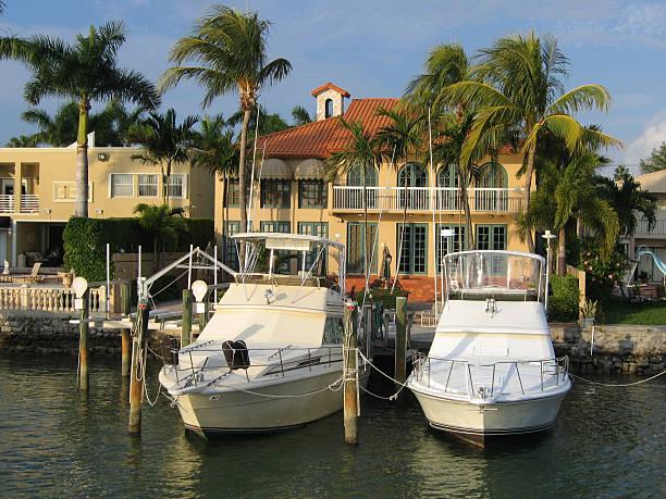 Island Living Miami Florida Stock Photo - Download Image Now