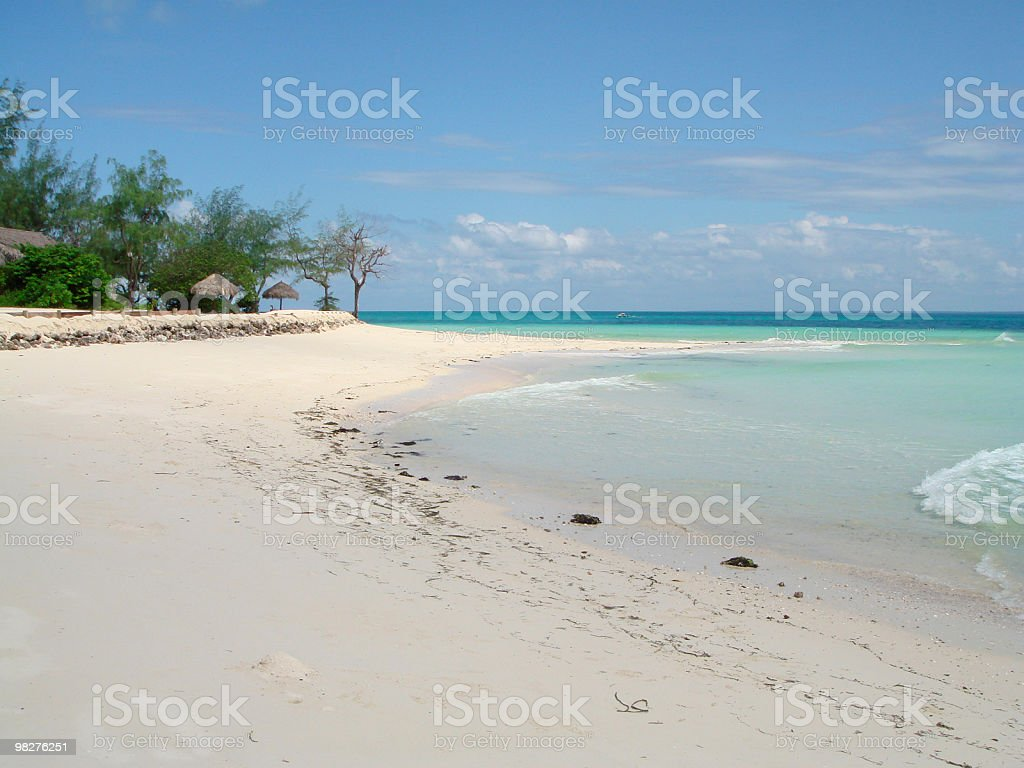 Island luxary resort with white sand beach royalty-free stock photo