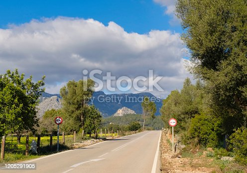 Beautiful roads with a nice scenery in the tramuntana mountains.