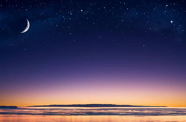 Island Moon stock photo