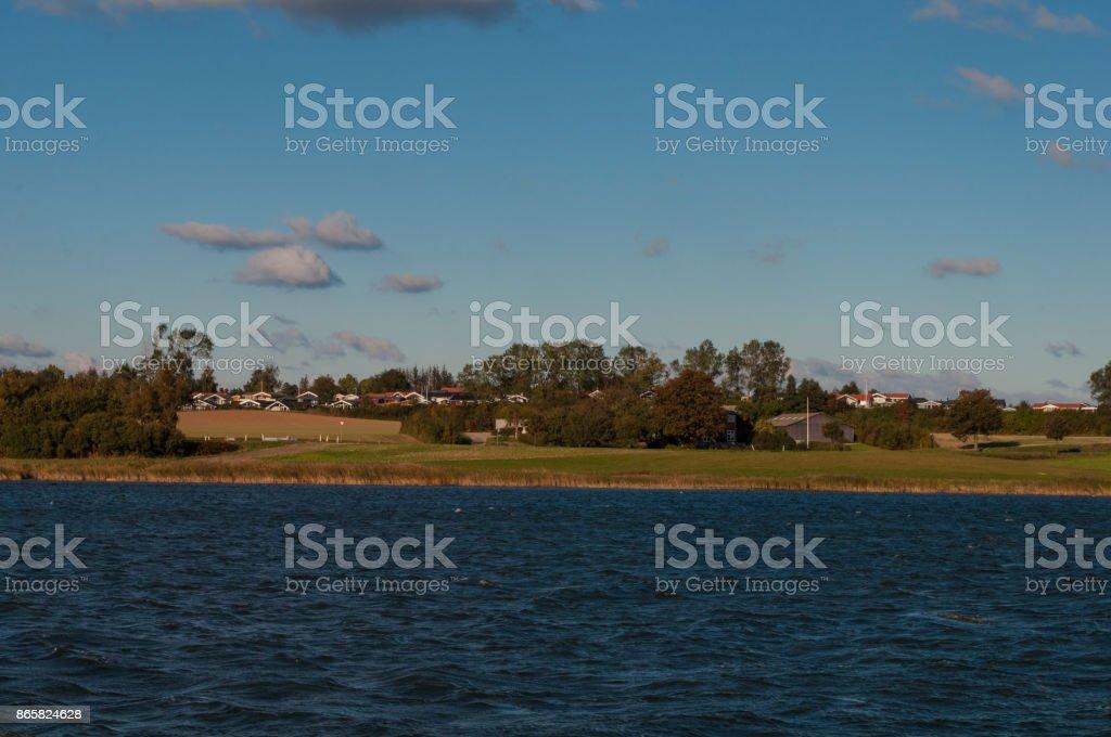 Island of Bogo in Denmark stock photo