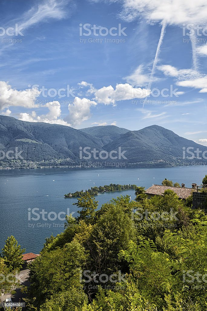 Island of Brissago, Lake Maggiore Switzerland royalty-free stock photo