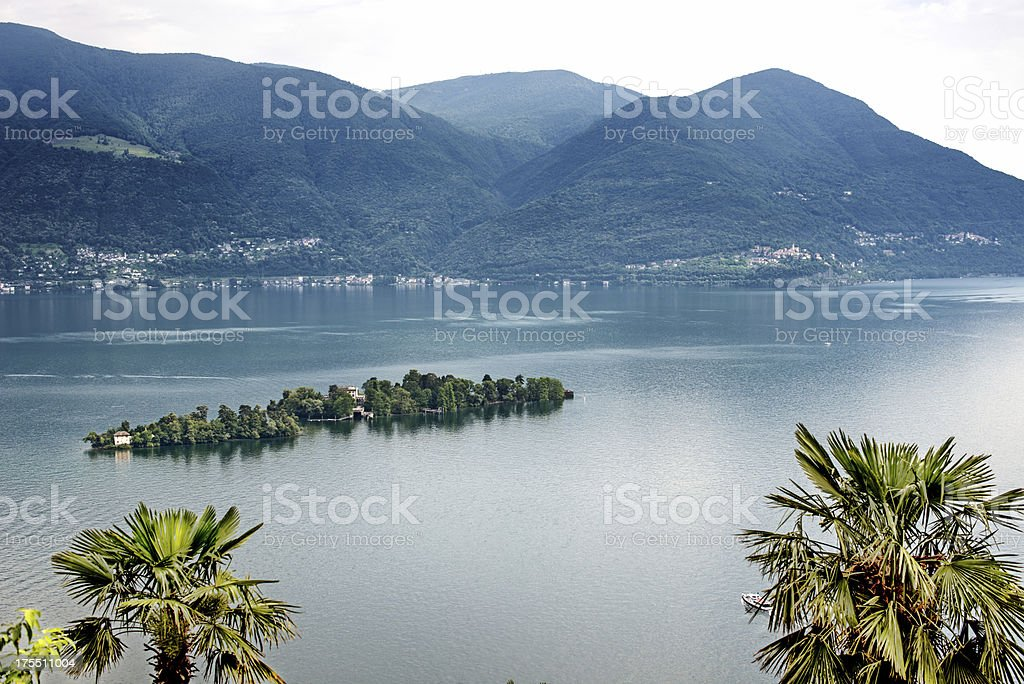 Island of Brissago on Lake Maggiore Switzerland royalty-free stock photo