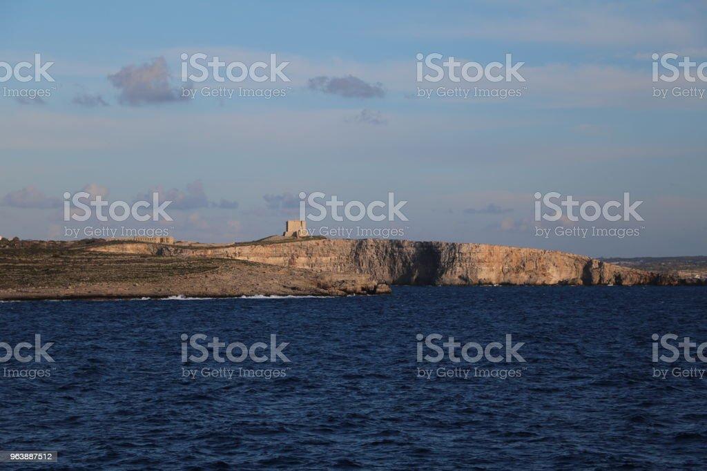 Island of Comino Malta, Mediterranean Sea - Royalty-free Bay of Water Stock Photo