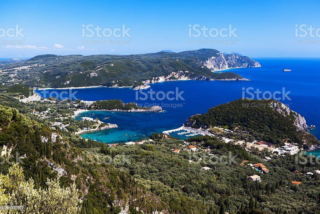 Island of Corfu, Paleokastritsa stock photo