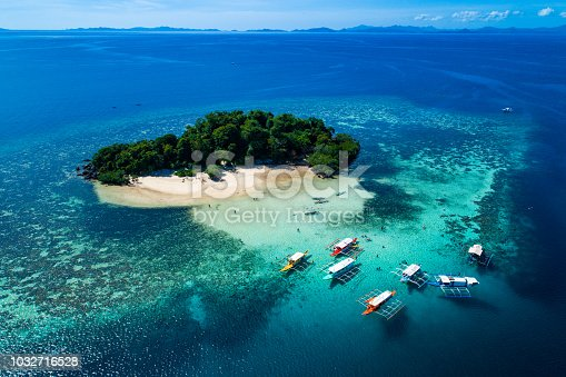 istock Island of Coron with a view of Twin Lagoon in Palawan, Philippines 1032716528