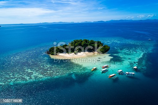istock Island of Coron with a view of Twin Lagoon in Palawan, Philippines 1032716536