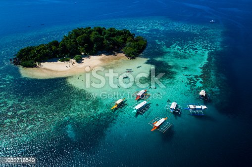 istock Island of Coron with a view of Twin Lagoon in Palawan, Philippines 1032716540