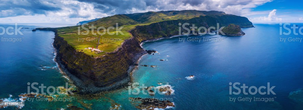 Island of Flores in the Azores stock photo