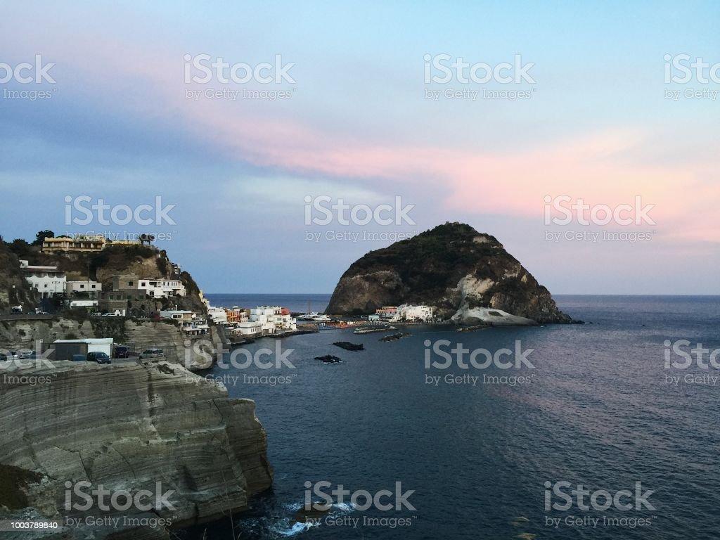 Island of ischia, italy stock photo