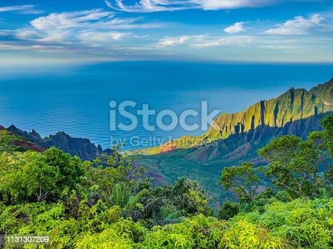 Kalalau Lookout on the Na Pali Coast on the Island of Kauai