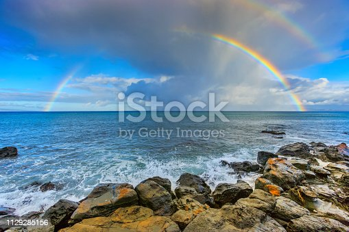 Rainbow seen from Maui, Hawaii