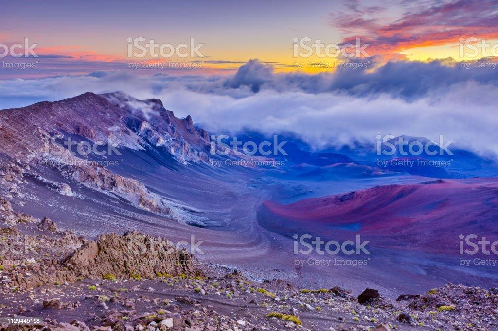 Island of Maui in Hawaii stock photo