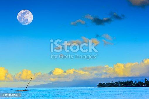 Abandoned sail boat in Lahaina Harbor on Maui