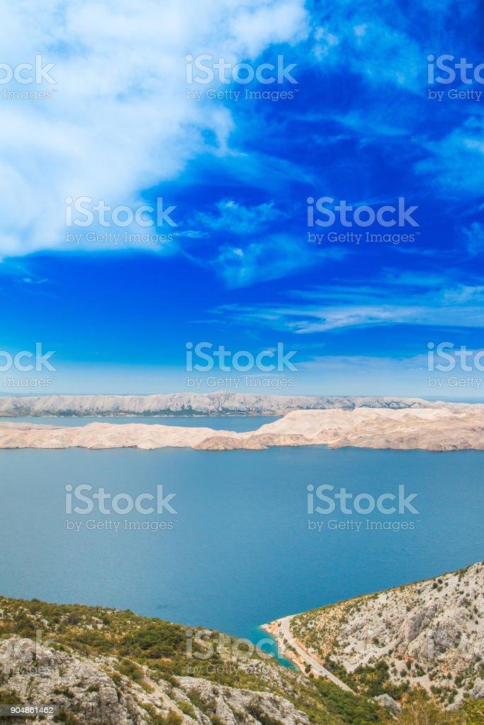 Island of Pag, Croatia stock photo