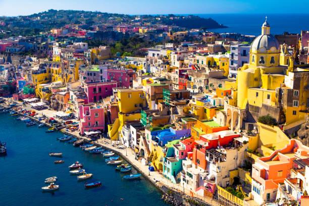 island of procida, naples, italy - procida foto e immagini stock