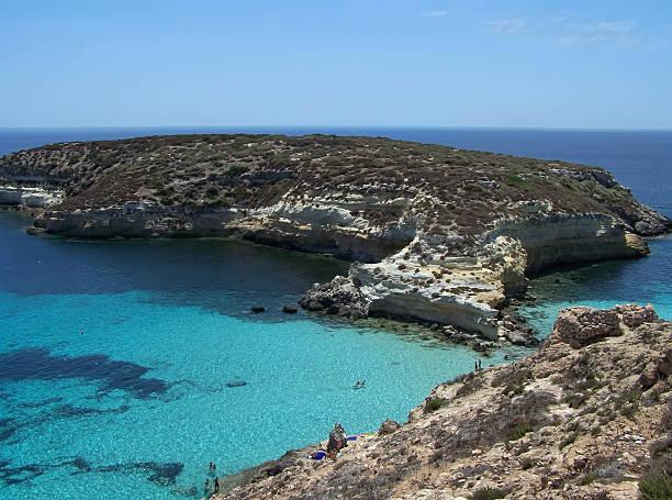 Isola di conigli.  Lampedusa- Sicilia - foto stock