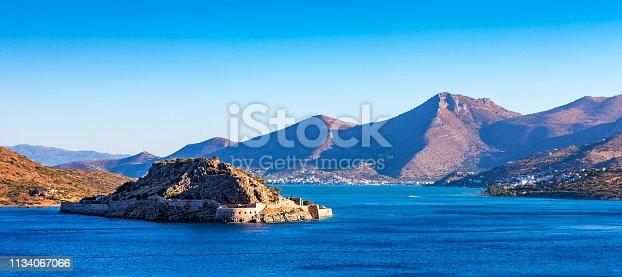Panoramic view of Spinalonga, Crete, Greece