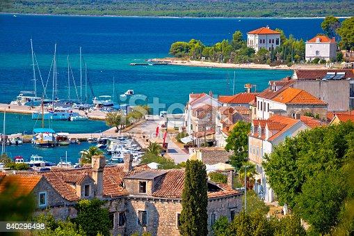 istock Island of Zlarin waterfront view, Sibenik archipelago of Dalmatia, Croatia 840296498
