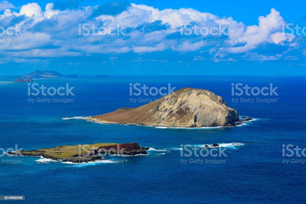 Island off of Kaiwi Shoreline stock photo