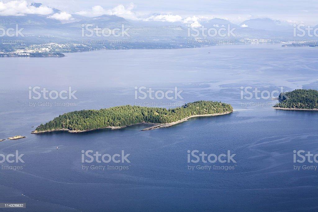 Island Off Vancouver stock photo