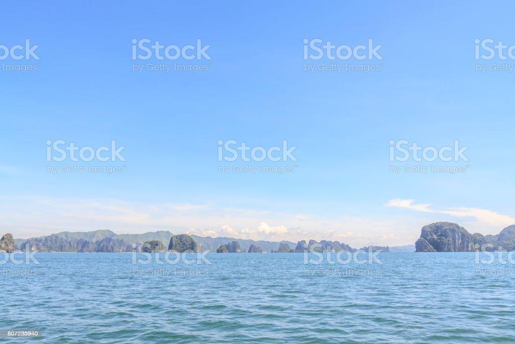 Island on Ha Long bay stock photo