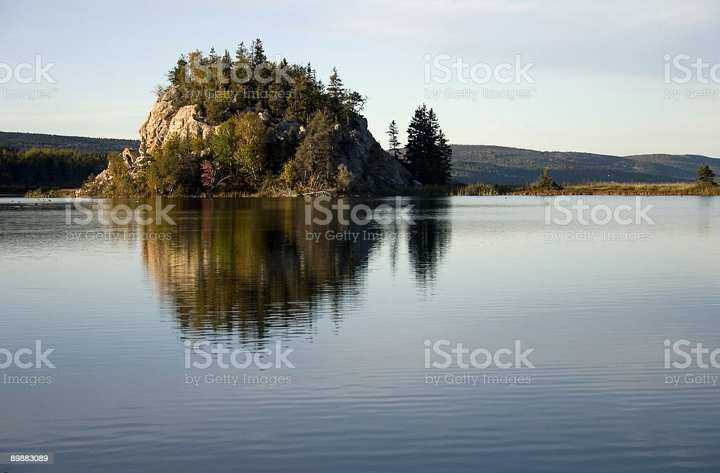 Island on the Lake royalty-free stock photo