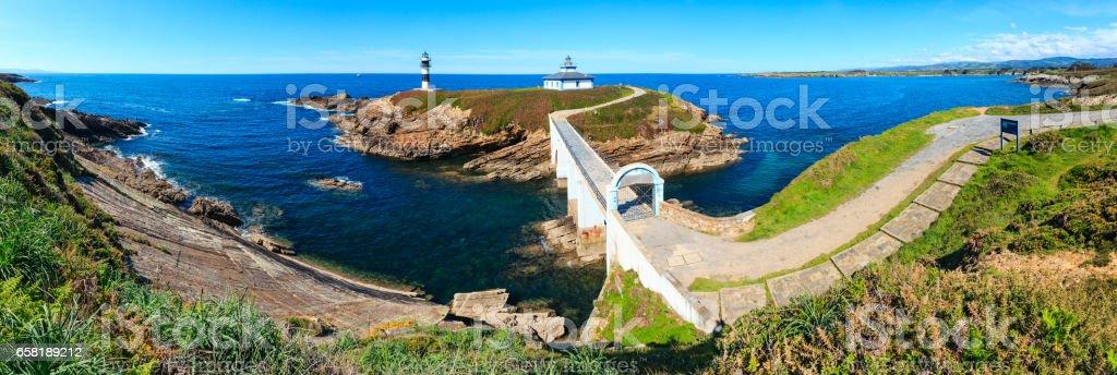 Island Pancha coastline ( Spain). stock photo