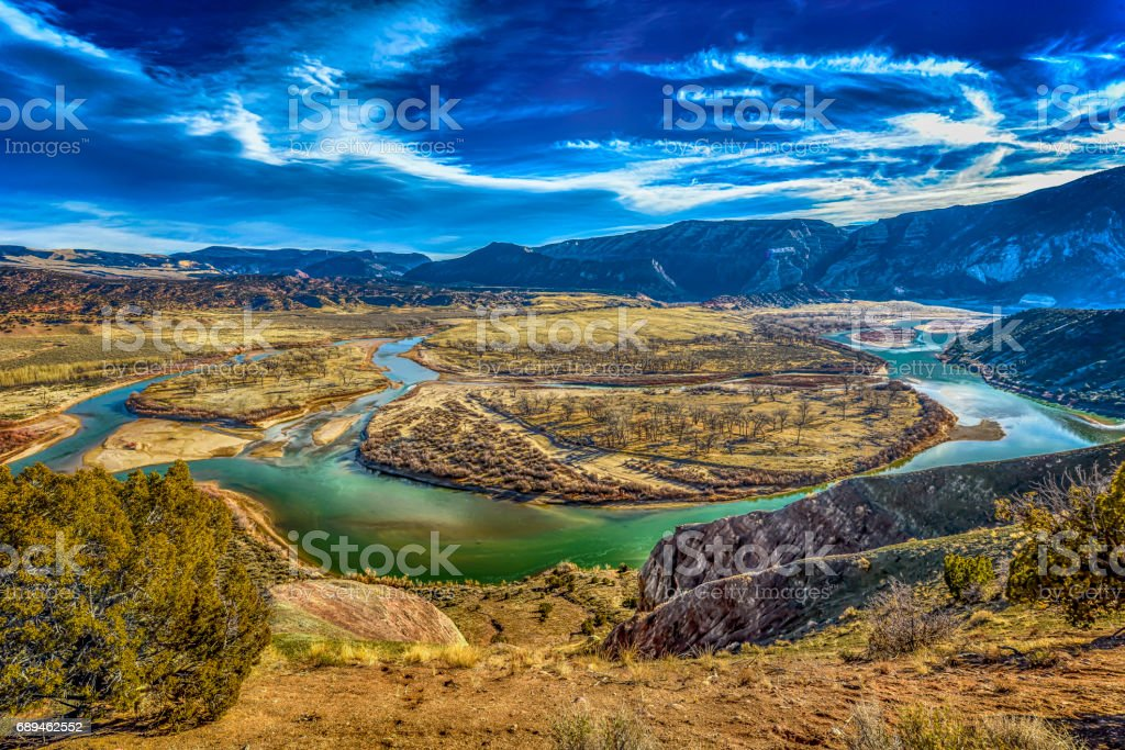 Image of Island Park and the Green River in Dinosaur National...