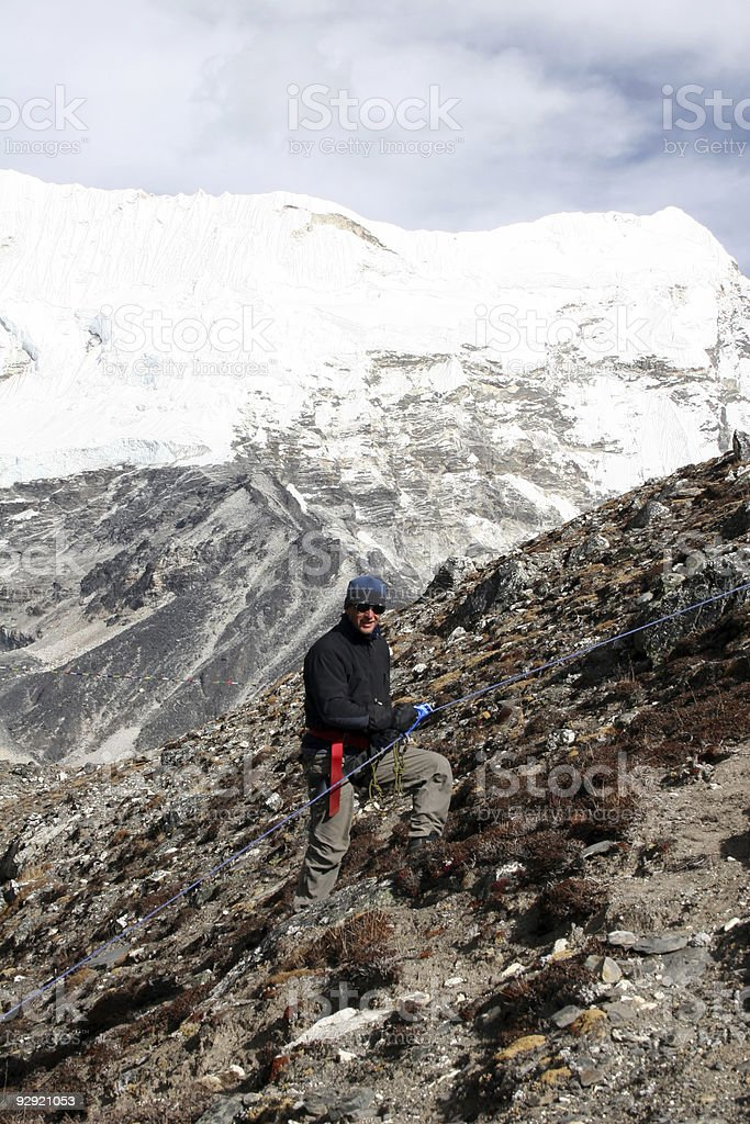 Island Peak Base Camp Training - Nepal stock photo